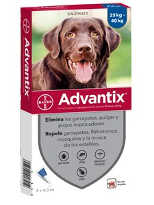 ADVANTIX 4 PIPETAS 4 ml. - De 25 a 40 Kg.