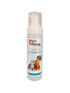 CHAMPU PET SANA ESPUMA SECA 200 ml.