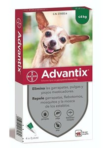 ADVANTIX 4 PIPETAS 0,4 ml. - De 0 a 4 Kg.